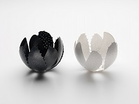Chiaro Oscura, 2012 Vessels – Sterling Silver, Sterling Silver blackened