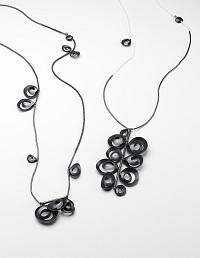 Light and Shadow, 2014 – Sterling Silver blackened, antique glass beads