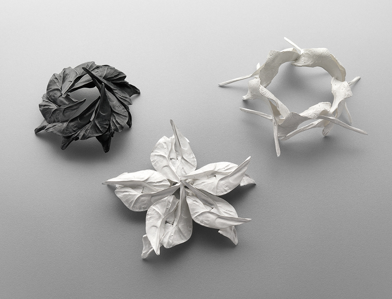As patterns swim, 2009, Sterling Silver, Sterling Silver blackened